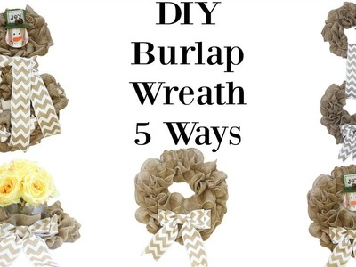 How to Make A Burlap Wreath 5 Ways and Make the Perfect Bow!