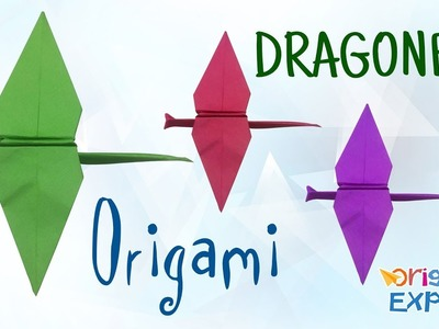 How to Make a Dragonfly | Origami Dragonfly | Make a Paper Dragonfly