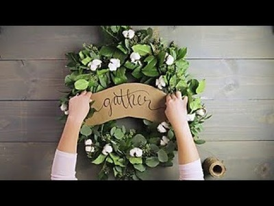 How to Make a Eucalyptus Wreath - HGTV