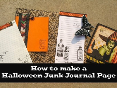 How to make a Halloween Junk Journal Page