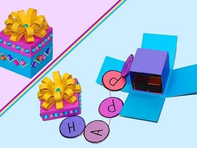 How to make a magic explosion birthday box | birthday surprise Gift box