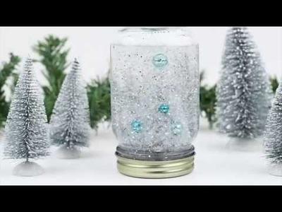 How to Make a Mason Jar Snow Globe