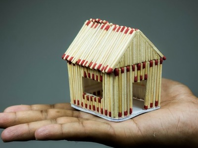 How To Make A Match House (with very easy different idea). Easy DIY House. Matchstick Art by F8ik