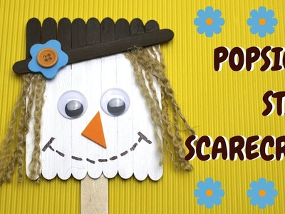 How to Make a Popsicle Stick Scarecrow | Fall Crafts for Kids