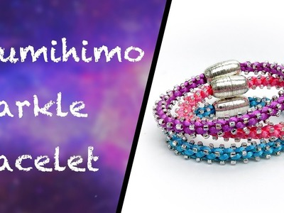How to make a sparkly bracelet on the Prumihimo disk