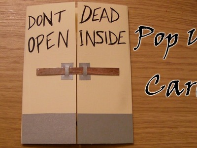 How To Make A Walking Dead Pop Up Card