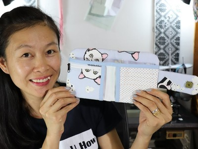 How to Make a Wallet With a Zippered Coin Pouch and Card Pockets