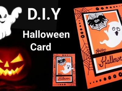 How to make an easy Halloween Card | Halloween card tutorial |
