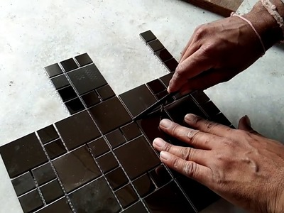 How to make bathroom wall tiles corner design and install wall