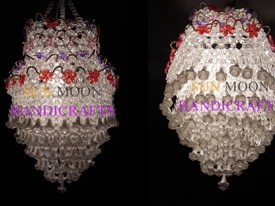 How to make Beaded Chandelier (Part-02). Beaded Lampshade.DIY Beaded Jhar bati