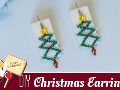 How to make Christmas tree earrings | Holiday jewelry ideas | Christmas gift ideas | Beads art
