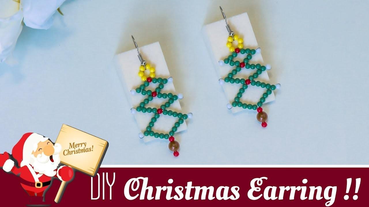 How to make Christmas tree earrings | Holiday jewelry ideas | Christmas gift ideas | Beads art
