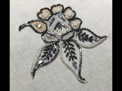 How To Make Cutdana Flower Embroidery Full Tutorial