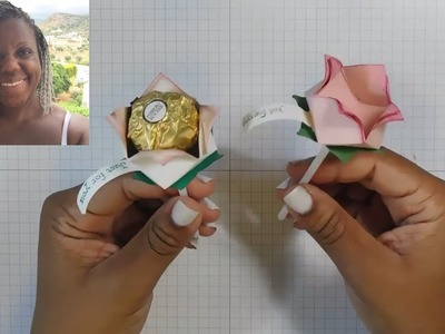 How to make Ferrero Rocher Paper Roses - My #OnStage2017 swaps