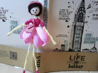 How to make flower fairy from cotton