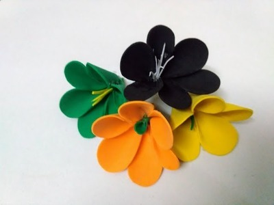 How to make flower with foam paper