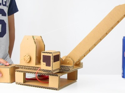 How to Make Hydraulic Powered Crane from Cardboard