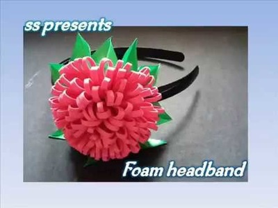 How to make kids hair accessories making at home.How to make head band making at home