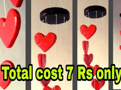 How to make love shape wind chimes