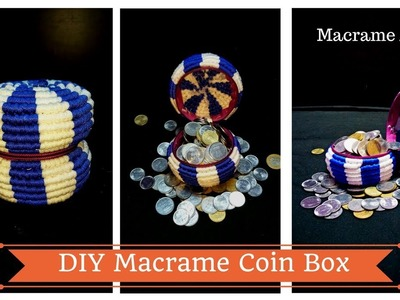 How to make Macrame coin box | Macrame Coin purse