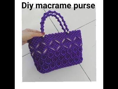 How to make macrame purse # design 12