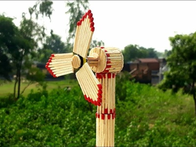 How to make matchstick table fan for kids.  DIY kids school project. matchstick craft