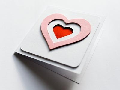 How to make : Mini Card with Hearts | Mini Kartka z Sercami - Mishellka #262 DIY