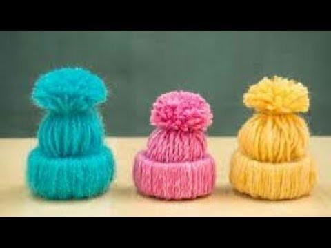 How to make mini woolen cap cap for ladoogopal hat in hindi कान्हा की छोटी सी टोपी कैसे बनाए