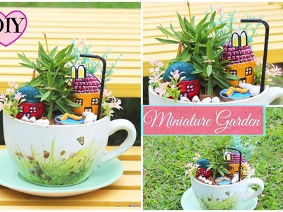 How to make Miniature Garden at home using Waste Material. DIY for home decor.