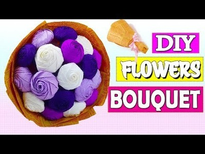 HOW TO MAKE PAPER FLOWER BOUQUET TUTORIAL EASY STEP BY STEP #2