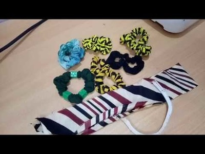 How to make simple stylish hair rubber band at home Sewing Rubber Band - Tutorial Video