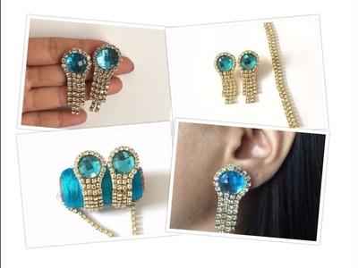 How To Make Stone Chain Stud Earrings At Home | Stud Earrings | Creative Things