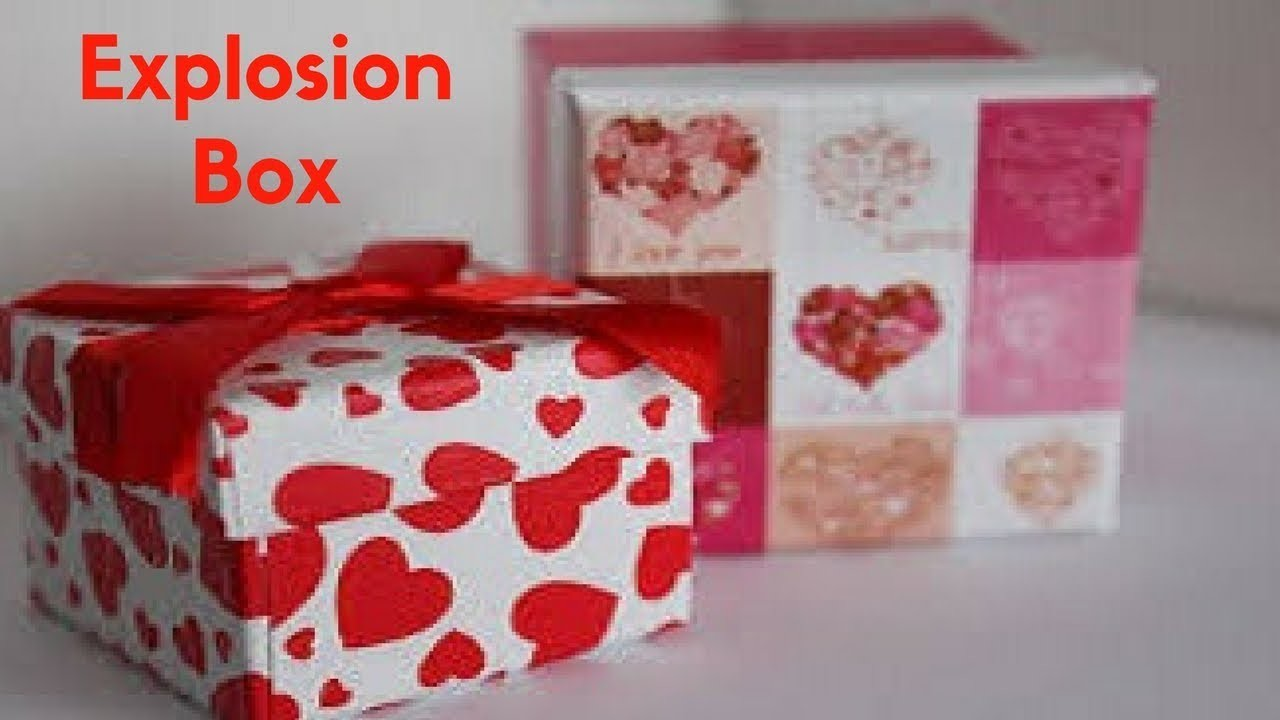 HOW TO MAKE SURPRISE EXPLOSION BOX FOR BIRTHDAY