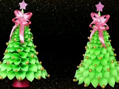 How to make Table top Christmas Tree from Paper |