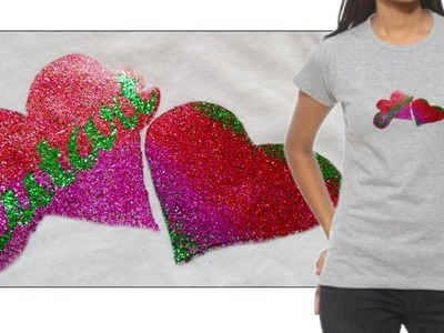 How to print T-shirts with glitter