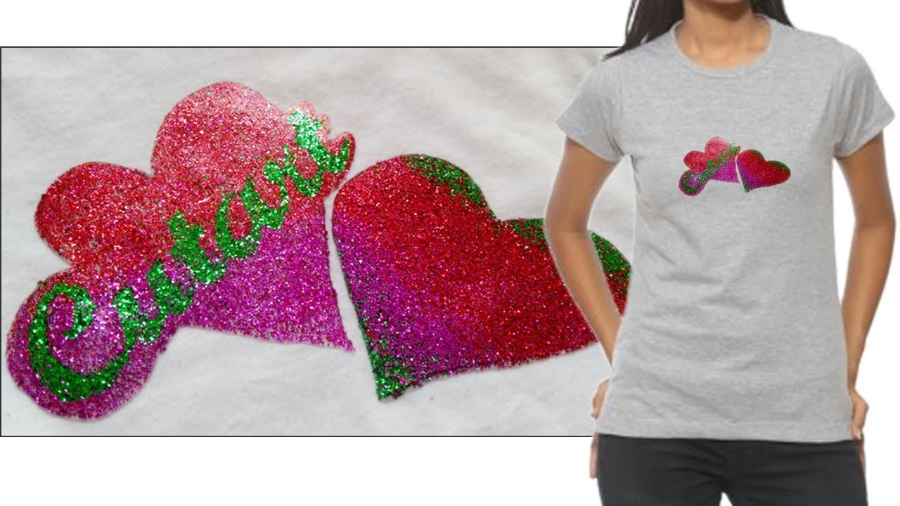 How To Print T Shirts With Glitter