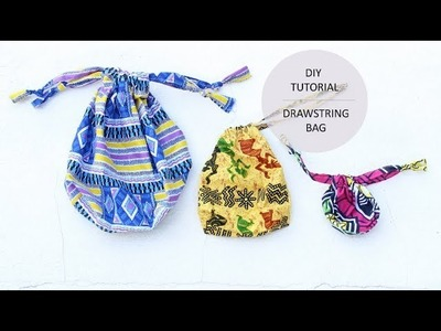 How to Sew a Drawstring Bag in 5 minutes!