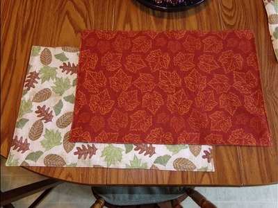 How To Sew A Reversible Placemats