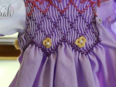 How to sew cast-on flowers | Works for pleated and flat fabric