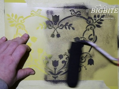 How to Shabby Chic stencil with a paint roller - p1