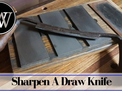 How to Sharpen a Draw Knife | Hand Tool Wood Working Skill