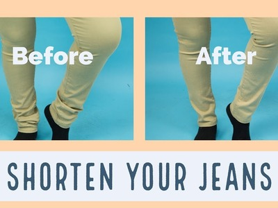 How to Shorten the Length of your Jeans in 5mins ||SewAddicts