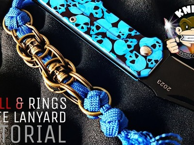 How to Tie a Skull & Cross Rings Paracord Knife Lanyard Key Chain