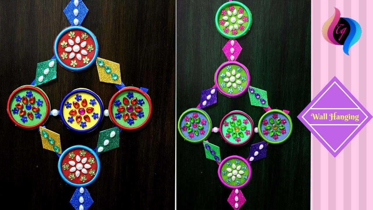 How To Use Waste Bangles How To Make Wall Hanging Crafts Home Decoration Using Bangles