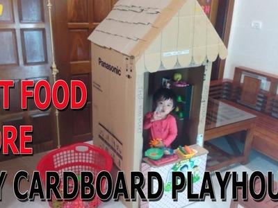 Làm nhà bằng thùng giấy (cardboard house)