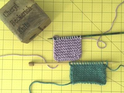 Learn Garter Stitch and Stockinette Stitch
