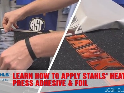 Learn How to Apply Stahls' Heat Press Adhesive & Foil