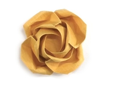 Learn how to make a  beauteous origami rose