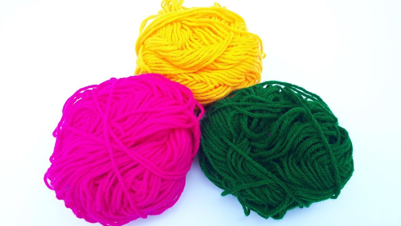 Making earrings with woolen thread and chain diy how to for Craft with woolen thread