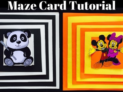 Maze Card Tutorial | Panda Card Tutorial | How to make Panda Card | Card In Card